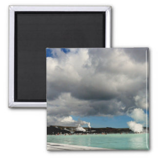The Blue Lagoon, Iceland 2 Inch Square Magnet