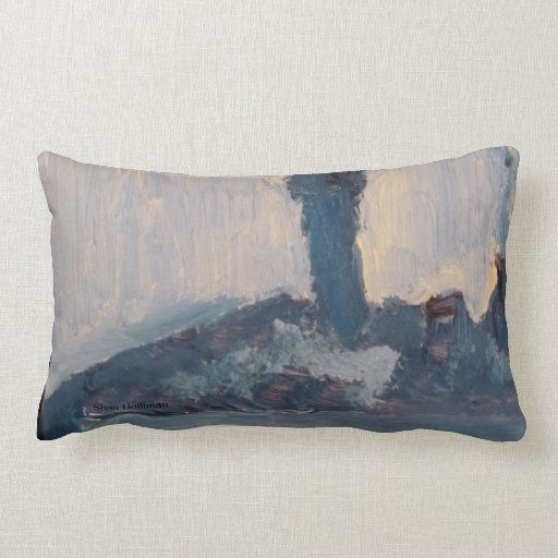 The Blue Lamp Pillow