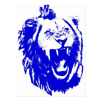The Blue Lion King Speaks Postcard