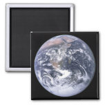 """The Blue Marble"" Earth seem from Apollo 17 2 Inch Square Magnet"