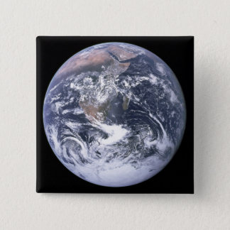 """""""The Blue Marble"""" Earth seem from Apollo 17 Button"""