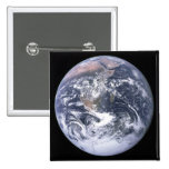 """""""The Blue Marble"""" Earth seem from Apollo 17 2 Inch Square Button"""
