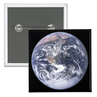 """The Blue Marble"" Earth seem from Apollo 17 Button"