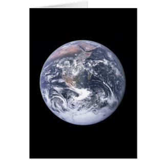 """""""The Blue Marble"""" Earth seem from Apollo 17 Card"""