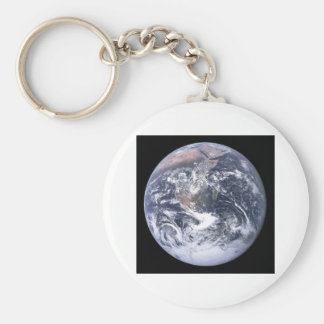 """""""The Blue Marble"""" Earth seem from Apollo 17 Basic Round Button Keychain"""