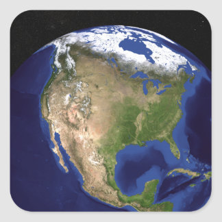 The Blue Marble Next Generation Earth 4 Square Sticker