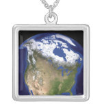 The Blue Marble Next Generation Earth 5 Square Pendant Necklace