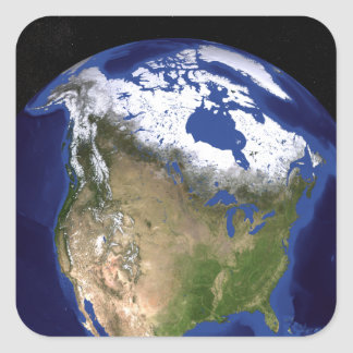 The Blue Marble Next Generation Earth 5 Square Sticker