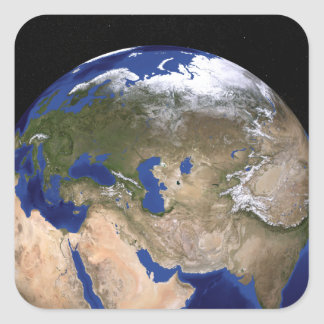 The Blue Marble Next Generation Earth Square Sticker