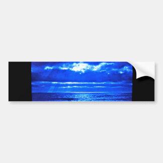 The Blue Moonscape. Car Bumper Sticker