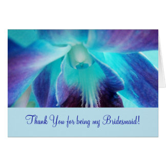 The Blue Orchid Bridemaid Notecard