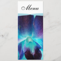 The Blue Orchid Wedding Menu