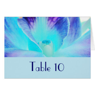 The Blue Orchid Wedding Table Card