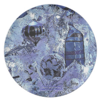 The Blue Ornament Dinner Plate