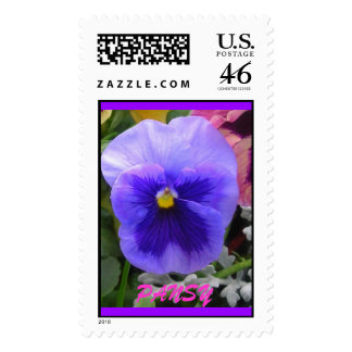 The BLUE PANSY Postage Stamp
