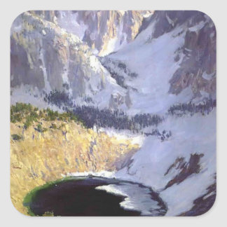 The Blue Pool near Mt. Whitney by Guy Rose Square Sticker