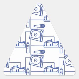 The_ Blue_ Print Triangle Sticker