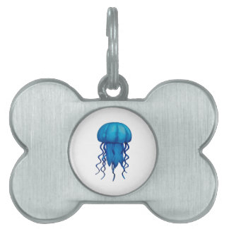 THE BLUE PULSE PET ID TAG
