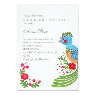 """The Blue Quetzal Bachelorette Party Invitation 5"""" X 7"""" Invitation Card"""