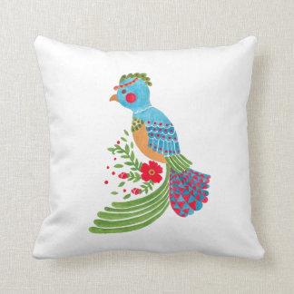 The Blue Quetzal Throw Pillow