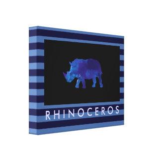 the blue rhinoceros canvas print