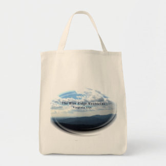 """The Blue Ridge Mountains"" Organic Grocery Tote"
