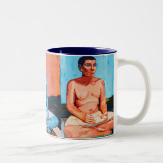 The Blue Scribe Two-Tone Coffee Mug
