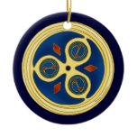The Blue Spiral Disks Celtic Spiral Ornament