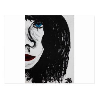 The blue stare postcard