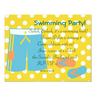 The Blue Swimtrunks Card