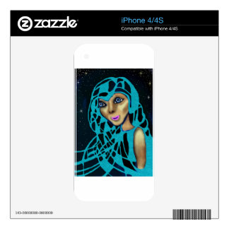 The Blue Veil. Decal For iPhone 4
