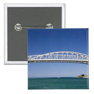 The Blue Water Bridge is a twin-span bridge 2 Inch Square Button