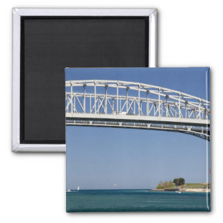 The Blue Water Bridge is a twin-span bridge 2 2 Inch Square Magnet