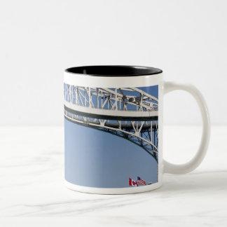 The Blue Water Bridge is a twin-span bridge 2 Two-Tone Coffee Mug