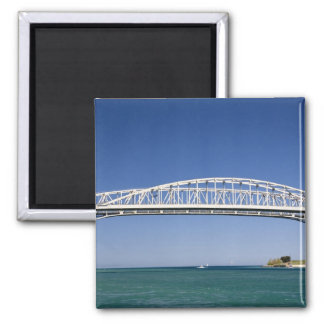 The Blue Water Bridge is a twin-span bridge 2 Inch Square Magnet
