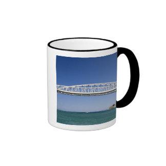 The Blue Water Bridge is a twin-span bridge Ringer Coffee Mug