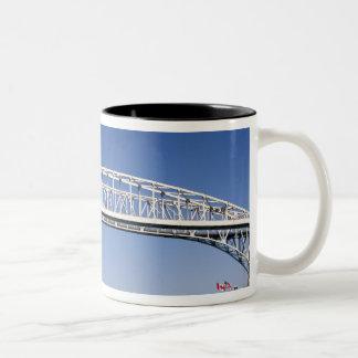 The Blue Water Bridge is a twin-span bridge Two-Tone Coffee Mug