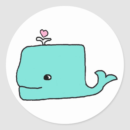The Blue Whale Classic Round Sticker
