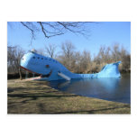 The Blue Whale of Catoosa Postcard