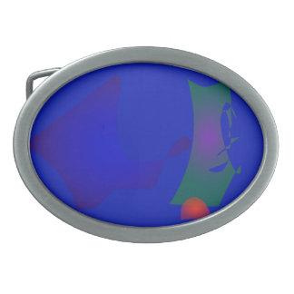 The Blue World Map Belt Buckle