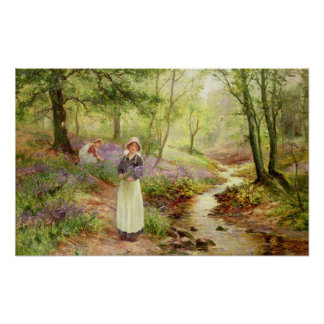 The Bluebell Glade Poster