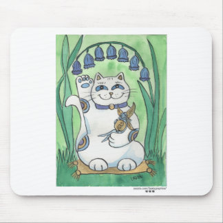 The Bluebells Are Ringing Out Good Luck Mouse Pad