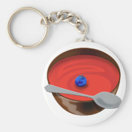 The Blueberry in a Bowl of Tomato Soup - Austin, T Keychain