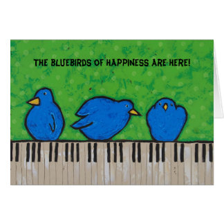 The bluebirds of happiness card