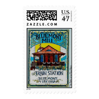 The Bluemont Mill and Train Station Postage