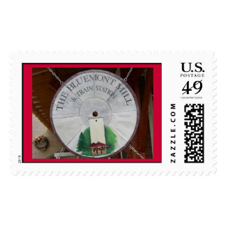 THE BLUEMONT MILL & TRAIN STATION SIGN POSTAGE STAMP