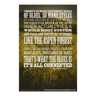 The Blues is a Root System Poster
