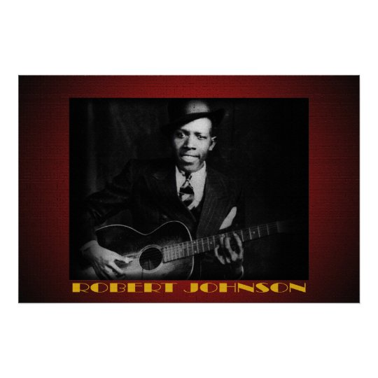 the blues of robert johnson 36 x 24 poster. Black Bedroom Furniture Sets. Home Design Ideas