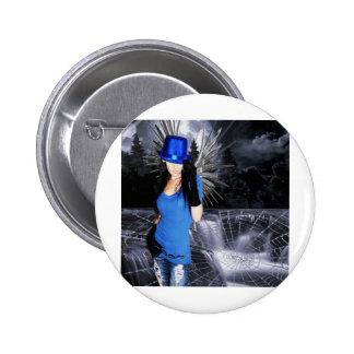 THE BLUE'S WEAVER PINBACK BUTTONS