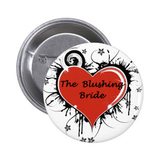 The Blushing Bride Button